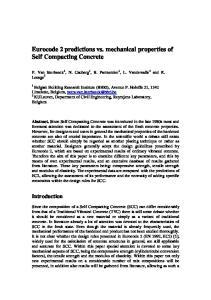 Eurocode 2 predictions vs. mechanical properties of Self Compacting Concrete