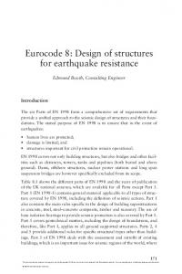 Eurocode 8: Design of structures for earthquake resistance