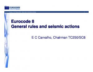 Eurocode 8 General rules and seismic actions