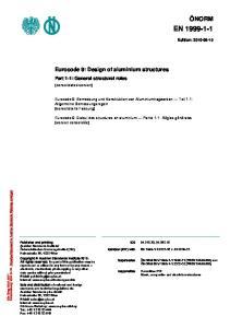 Eurocode 9: Design of aluminium structures