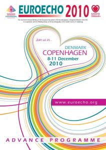 EUROECHO 2010 COPENHAGEN ADVANCE PROGRAMME DENMARK December.  Join us in