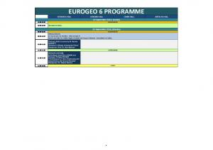 EUROGEO 6 PROGRAMME ISTANBUL HALL ANKARA HALL IZMIR HALL ANTALYA HALL 25 September 2016, Sunday REGISTRATION