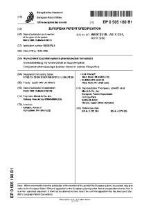 Europaisches Patentamt European Patent Office Office europeen des brevets (11) EP B1 EUROPEAN PATENT SPECIFICATION