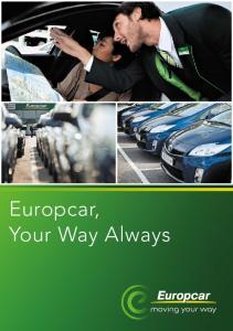 Europcar, Your Way Always