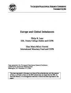 Europe and Global Imbalances