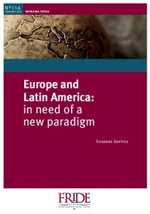 Europe and Latin America: in need of a new paradigm