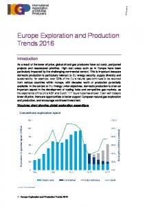 Europe Exploration and Production Trends 2016