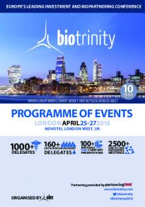 EUROPE S LEADING INVESTMENT AND BIOPARTNERING CONFERENCE