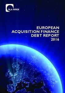 EUROPEAN ACQUISITION FINANCE DEBT REPORT