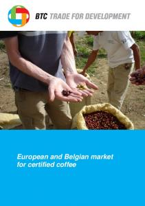 European and Belgian market for certified coffee