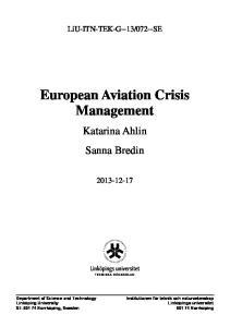 European Aviation Crisis Management
