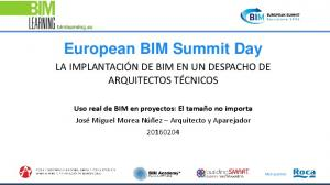 European BIM Summit Day