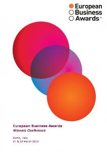 European Business Awards Winners Conference