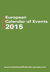 European Calendar of Events