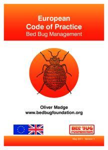 European Code of Practice Bed Bug Management