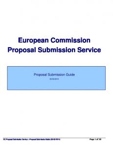 European Commission Proposal Submission Service