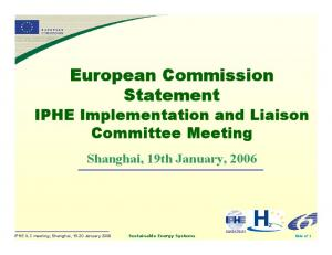 European Commission Statement
