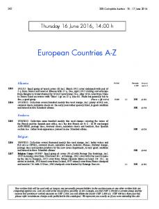 European Countries A-Z