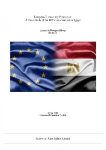 European Democracy Promotion: A Case Study of the EU s Involvement in Egypt