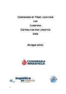 EUROPEAN DISTRIBUTION AND LOGISTICS 2009