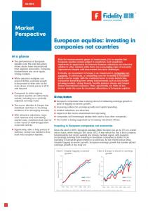 European equities: investing in companies not countries