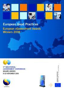 European Good Practices. European egovernment Awards Winners 2009