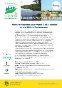 European Green Capital Seminar