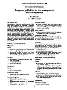 European guideline for the management of balanoposthitis