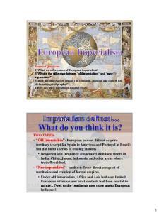 European Motives For Colonization