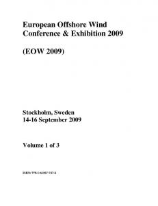 European Offshore Wind Conference & Exhibition 2009