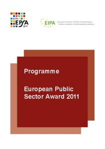 European Public Sector Award 2011