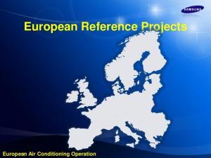European Reference Projects. European Air Conditioning Operation