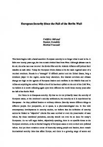 European Security Since the Fall of the Berlin Wall