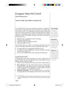 European State Aid Control
