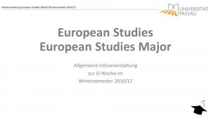 European Studies European Studies Major