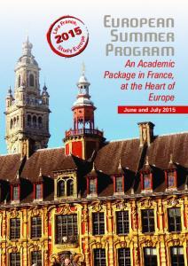 European Summer Program
