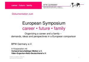 European Symposium career future family
