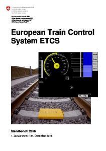 European Train Control System ETCS