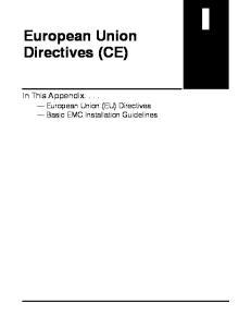 European Union Directives (CE)
