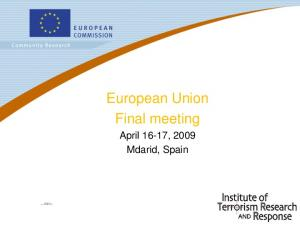 European Union Final meeting