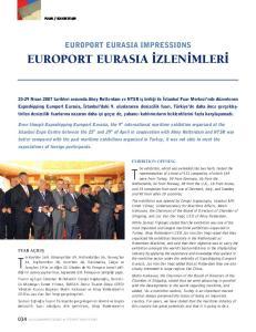 EUROPORT EURASIA IMPRESSIONS EUROPORT EURASIA ZLEN MLER