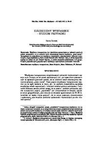 EUROREGIONY WYSPIARSKIE STUDIUM PRZYPADKU