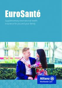 EuroSanté. Supplementary international health insurance for you and your family