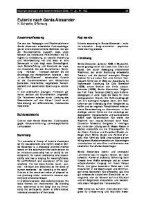 Eutonie nach Gerda Alexander K. Schaefer, Offenburg