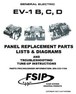 EV1B REPLACEMENT PARTS LIST