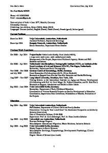 Eva-Maria Merz Curriculum Vitae, Sep 2016