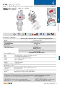EVAC lighting fixtures For incandescent and discharge lamps