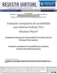 Evaluación comparativa de accesibilidad para sistemas Android, ios y Windows Phone*