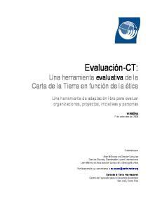 Evaluación-CT: Una herramienta evaluativa de la Carta de la Tierra en función de la ética