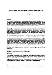 EVALUACION DEL RIEGO POR ASPERSION EN LADERAS